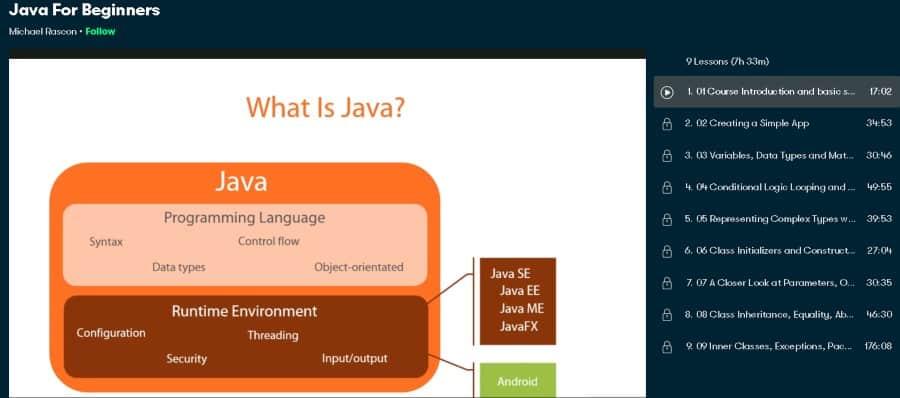 5. Java For Beginners (Skillshare)