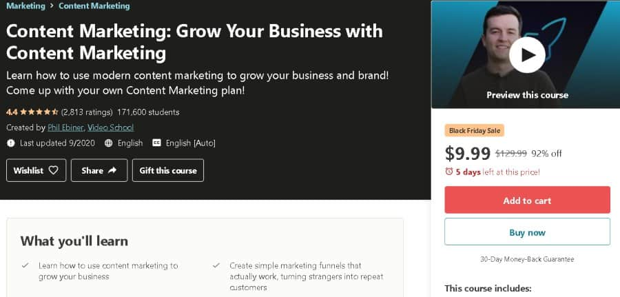 6. Content Marketing_ Grow Your Business with Content Marketing (Udemy)