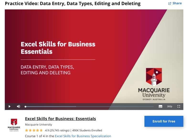 6. Practice Video_ Data Entry, Data Types, Editing and Deleting (Coursera)