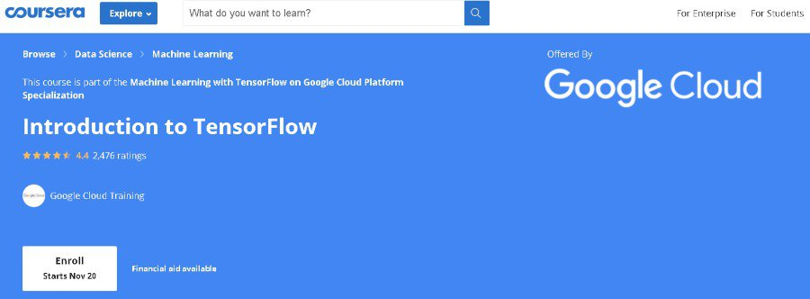 7. Introduction to TensorFlow (Coursera)