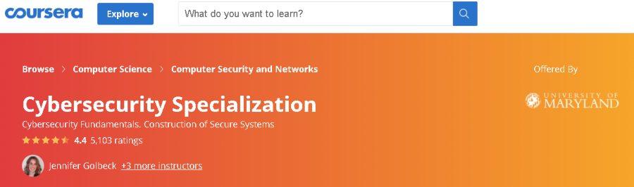 8. Cybersecurity Specialization (Coursera)