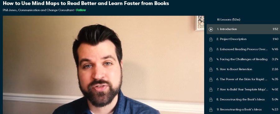 8. How to Use Mind Maps to Read Better and Learn Faster from Books (Skillshare)