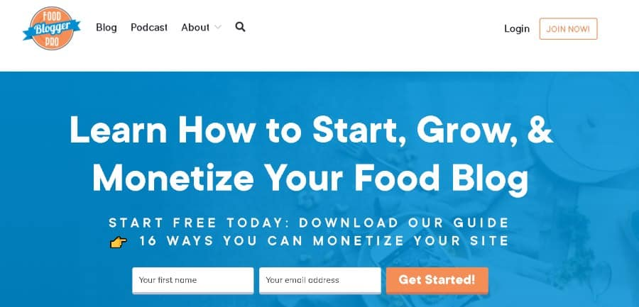 9. Learn How to Start, Grow, & Monetize Your Food Blog (FoodBloggerPro)