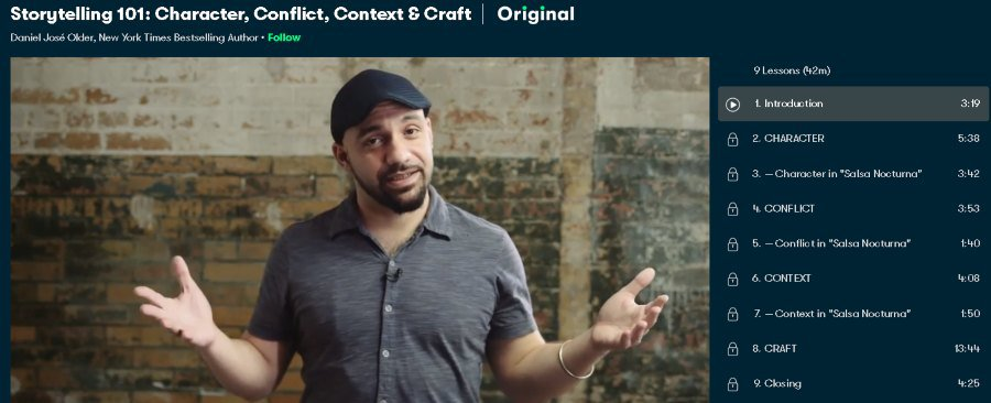 1. Storytelling 101 Character, Conflict, Context & Craft (SkillShare)