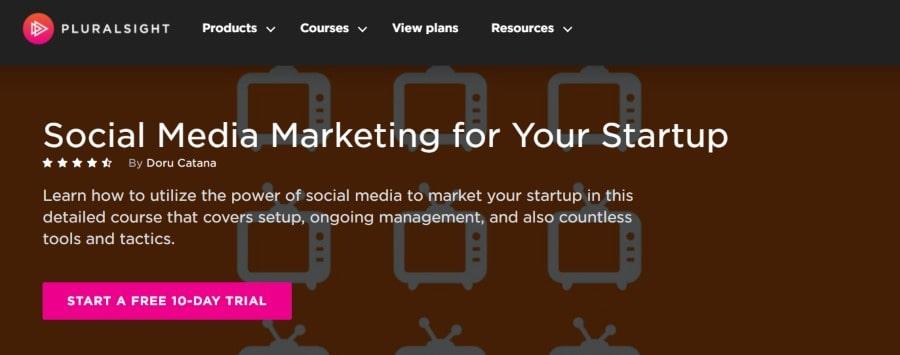 10. Social Media Marketing for Your Startup (Pluralsight)