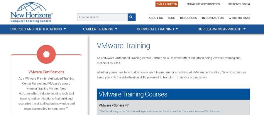 10. VMware Training (New Horizons)