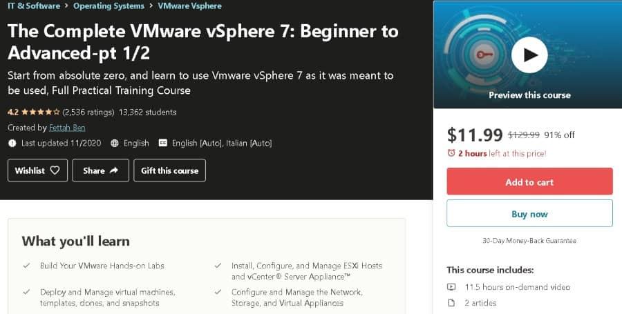 11. The Complete VMware vSphere 7 Beginner to Advanced-pt ½ (Udemy)