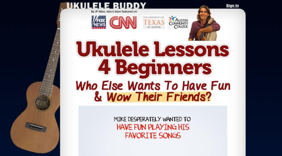 11. Ukulele Lessons for Beginners (Ukulele Buddy)