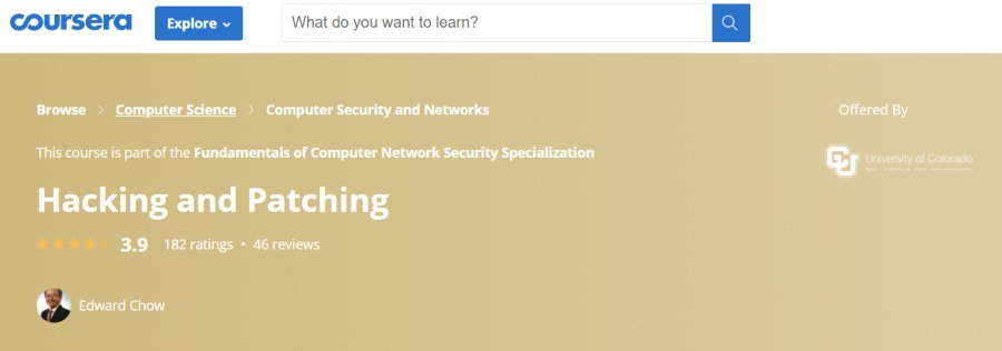 12. Hacking and Patching (Coursera)
