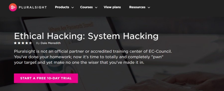 16. Ethical Hacking System Hacking (Pluralsight)