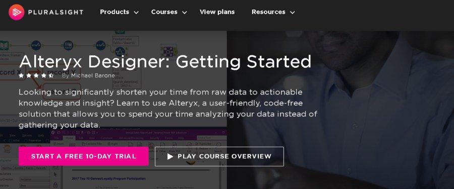 3. Alteryx Designer Getting Started (Pluralsight)