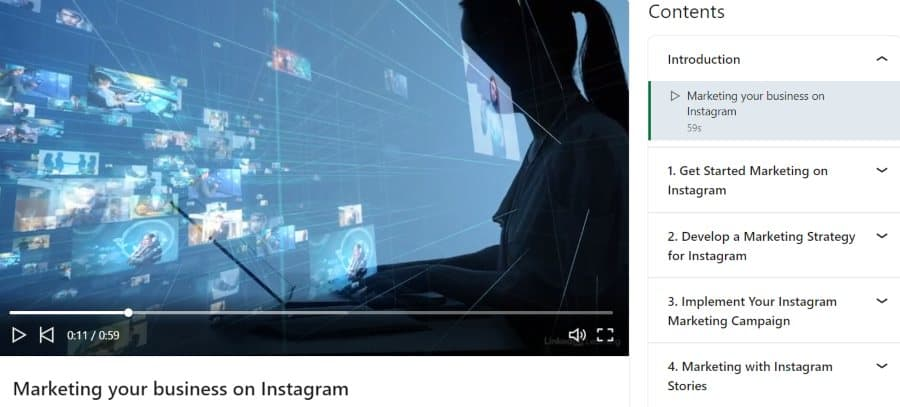 3. Marketing On Instagram (LinkedIn Learning)