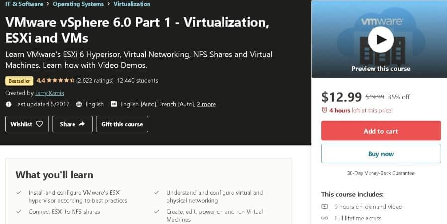3. VMware vSphere 6.0 Part 1 - Virtualization, ESXi and VMs (Udemy)