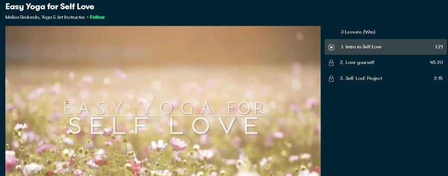 4. Easy Yoga for Self Love (SkillShare)