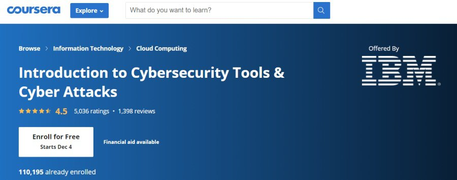 4. Introduction to Cybersecurity Tools & Cyber Attacks (Coursera)