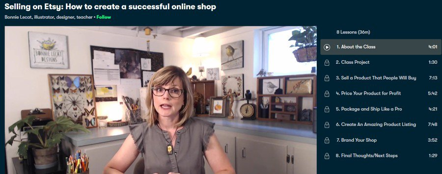 4. Selling on Etsy How to create a successful online shop (Skillshare)
