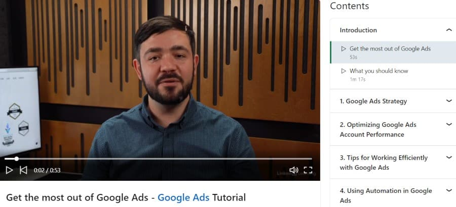 5. Advanced Google Ads (LinkedIn Learning)