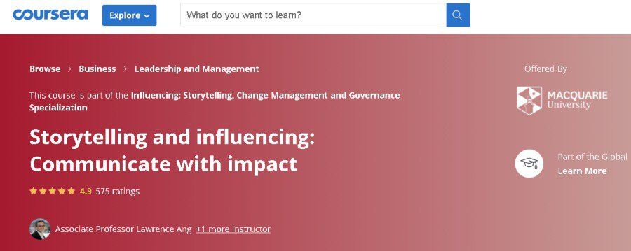 5. Storytelling and influencing Communicate with impact (Coursera)