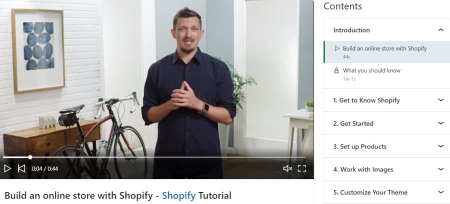 6. Shopify Essential Training (LinkedIn Learning)