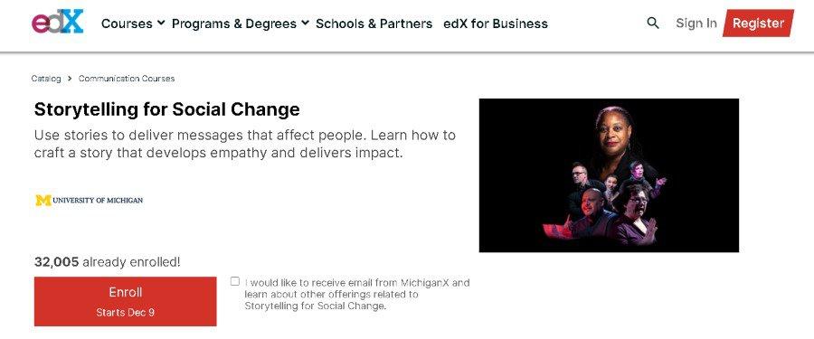 6. Storytelling for Social Change (EDX)