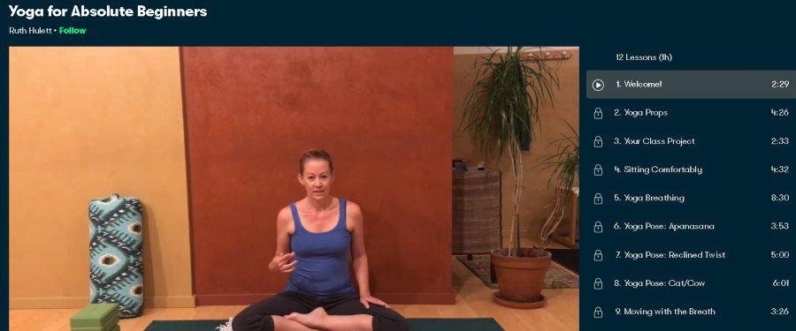 6. Yoga for Absolute Beginners (SkillShare)