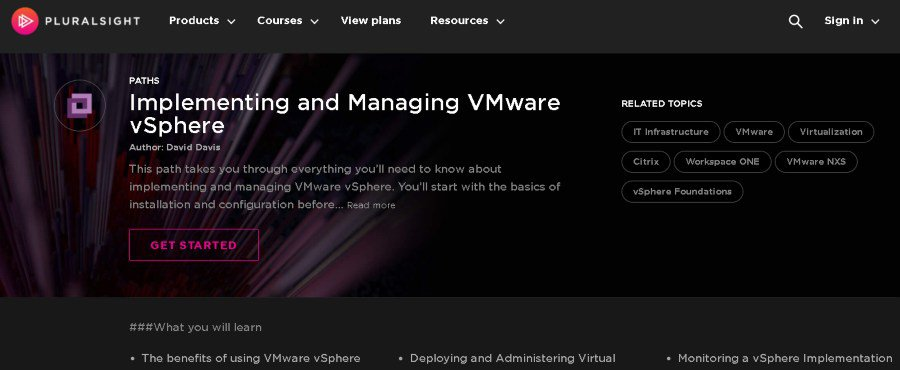 7. Implementing and Managing VMware vSphere (Pluralsight)