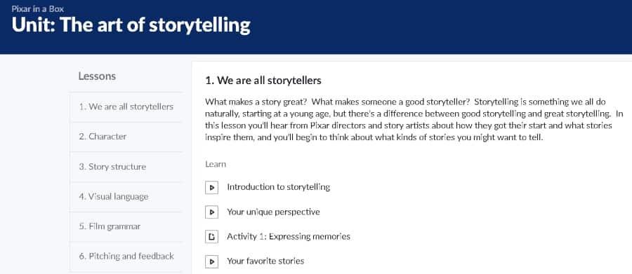 8. The Art of Storytelling (Khan Academy)