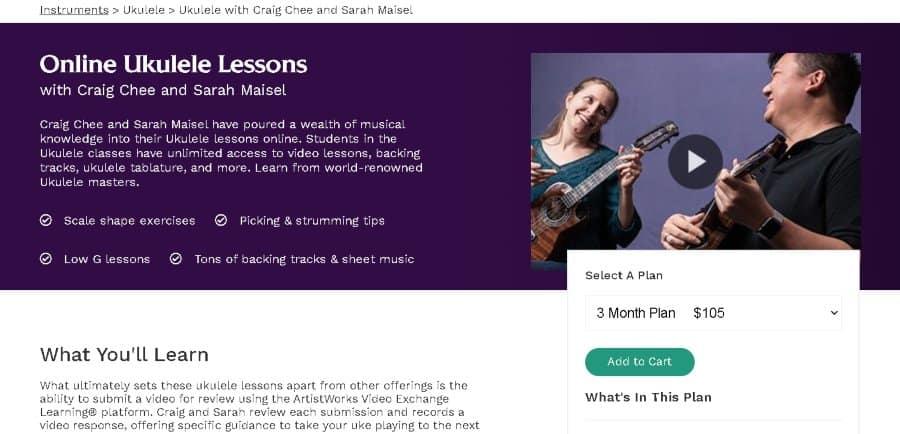 9. Online Ukulele Lessonswith Craig Chee and Sarah Maisel (ArtistWorks)