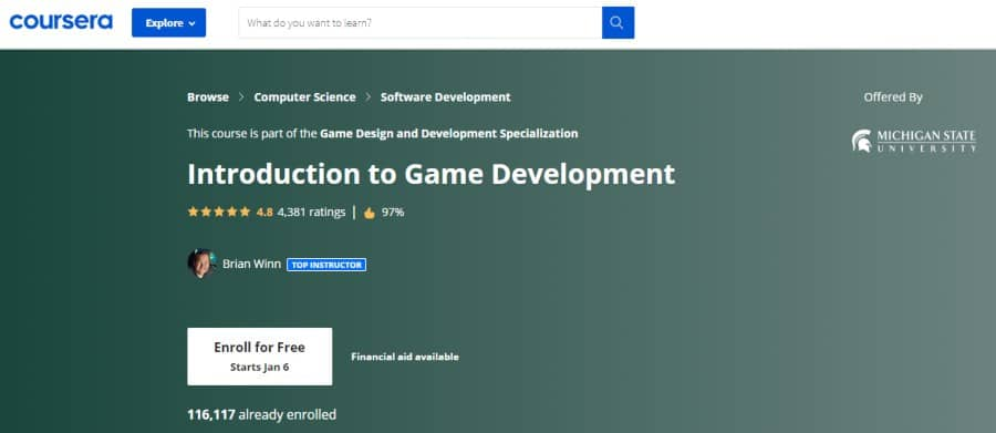 10. Introduction to Game Development (Coursera)