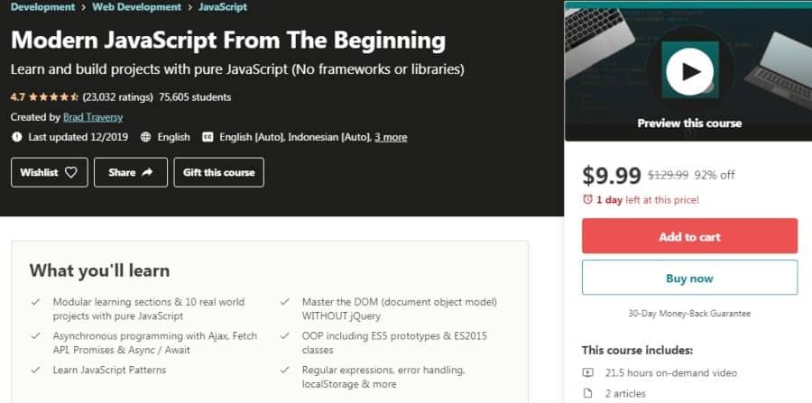 11. Modern JavaScript From The Beginning (Udemy)