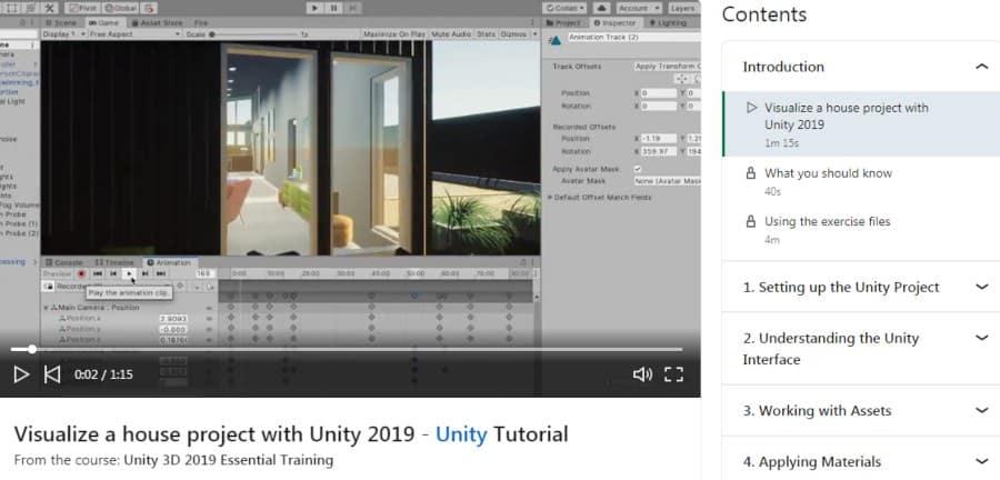 11. Unity 3D 2019 Essential Training (LinkedIn Learning)