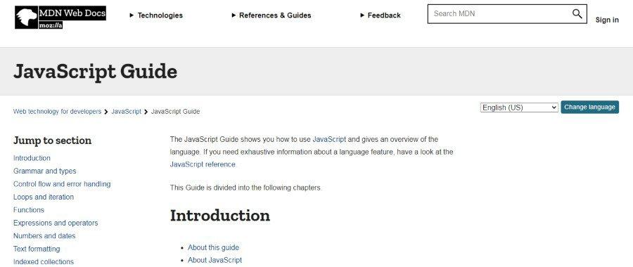 14. JavaScript Guide (Mozilla Developer Network)