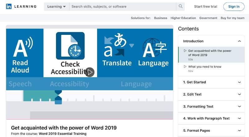 Word 2019 Essential Training (LinkedIn Learning)