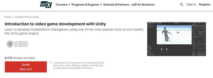 3. Introduction to video game development with Unity (edX)