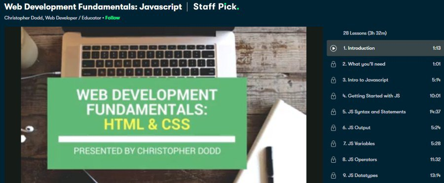 7. Web Development Fundamentals Javascript (Skillshare)