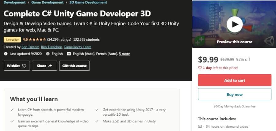 8. Complete C# Unity Game Developer 3D (Udemy)
