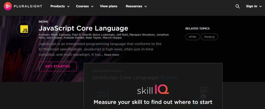 9. JavaScript Core Language (Pluralsight)