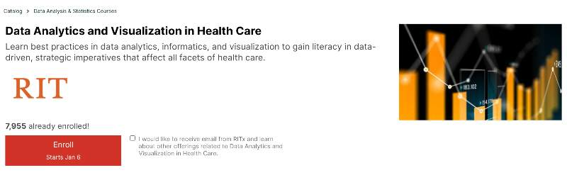 Data Analytics and Visualization in Health Care (edX)
