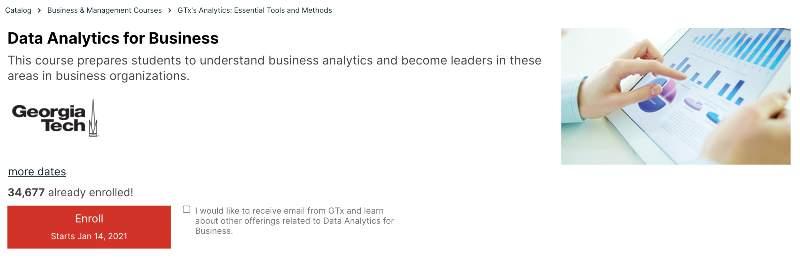 Data Analytics for Business (edX)
