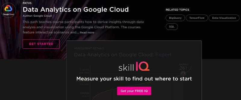 Data Analytics on Google Cloud (Pluralsight)