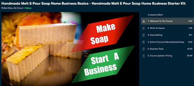 Handmade Melt & Pour Soap Home Business Basics - Handmade Melt & Pour Soap Home Business Starter Kit (Skillshare)