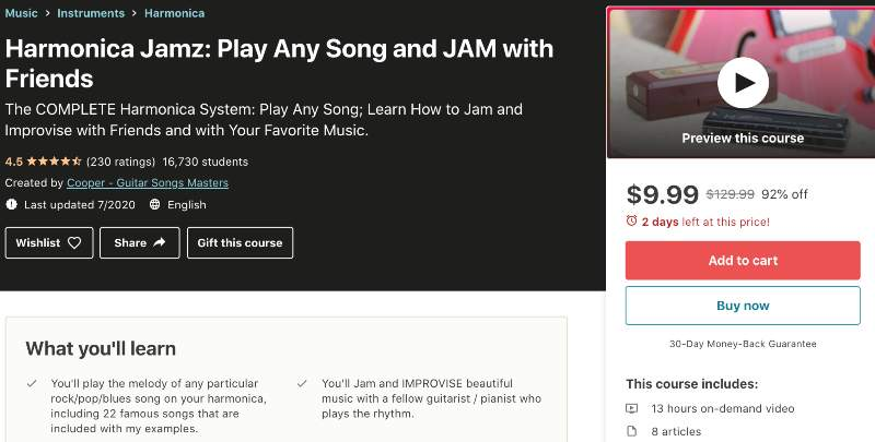 Harmonica Jamz: Play Any Song and JAM with Friends (Udemy)