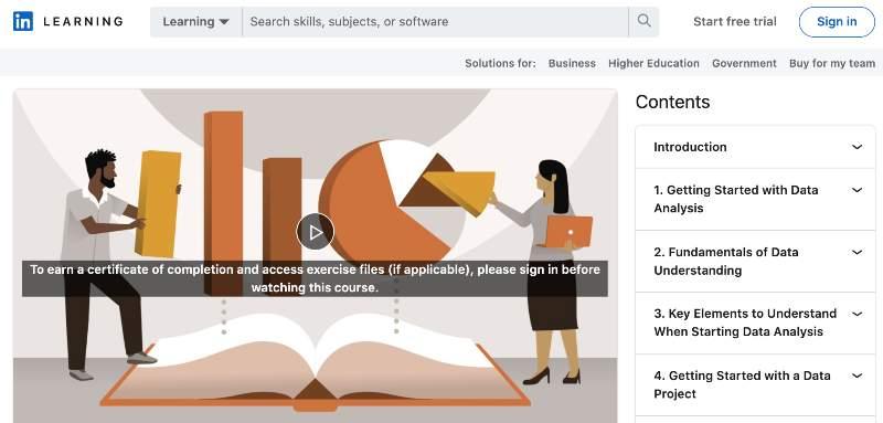Learning Data Analytics (LinkedIn Learning)