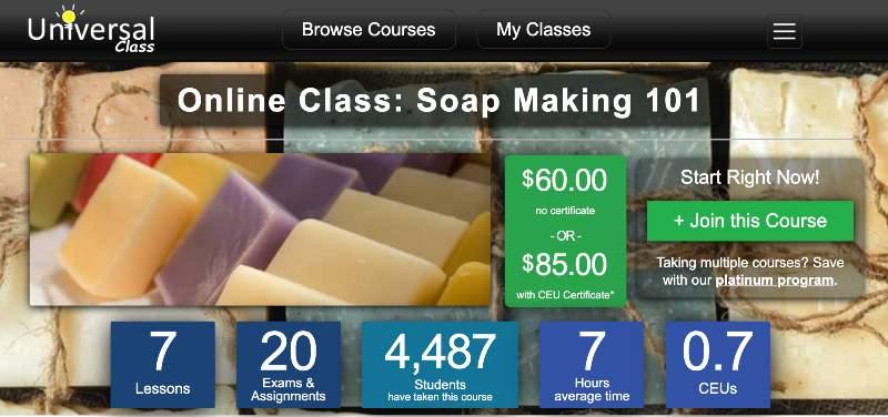 Online Class: Soap Making 101 (Universal Class)