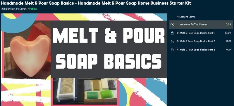 Pour Soap Basics - Handmade Melt & Pour Soap Home Business Starter Kit (Skillshare)