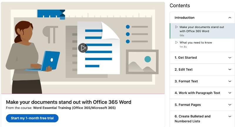 Word Essential Training (Office 365_Microsoft 365) (Linkedin Learning)