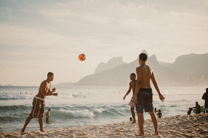 Make Friends Playing Beach Soccer