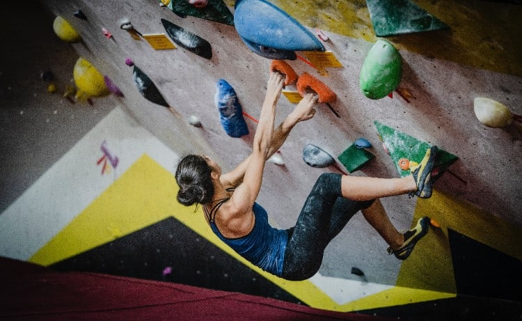 Socialize year round with rock-climbing
