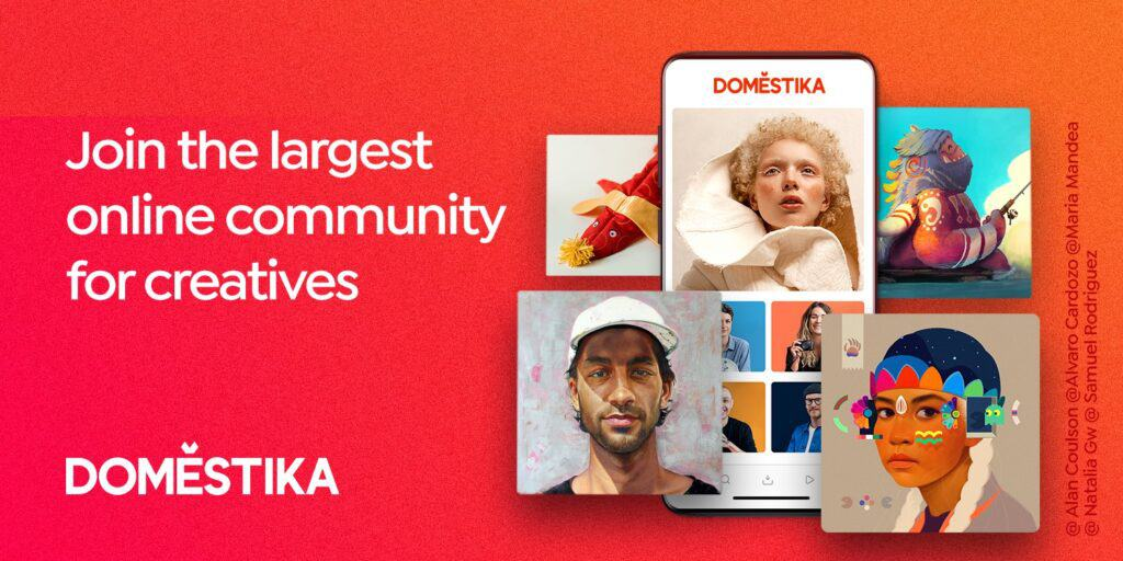 domestika join the largest online community for creatives