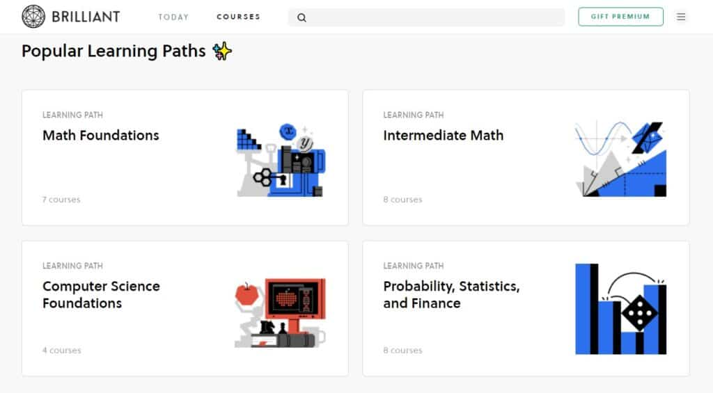 How can Brilliant help me? Brilliant.org review learning paths